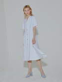 클루 드 클레어(CLUE DE CLARE) flare two way dress White