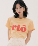 리올그(REORG) RIO PRINTING T-SHIRTS GOLDEN YELLOW
