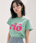 리올그(REORG) RIO PRINTING T-SHIRTS APPLE GREEN