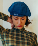 슬리피슬립(SLEEPYSLIP) [unisex]SIGNATURE DENIM NEWSBOY CAP