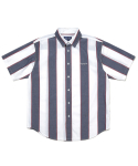 디스이즈네버댓(THISISNEVERTHAT) BIG Striped S/S Shirt  Navy/White
