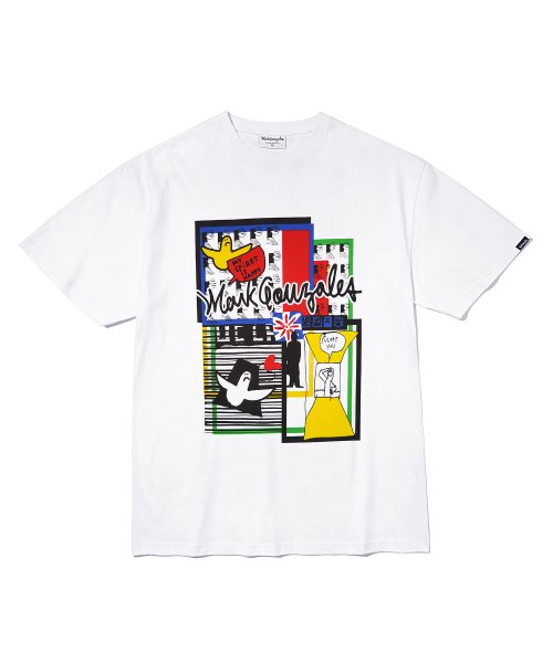 마크 곤잘레스(MARK GONZALES) M/G MULTI GRAPHIC T-SHIRTS WHITE