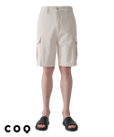 씨오큐() Cotton cargo shorts_ivory