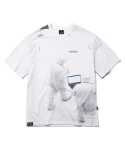 그루브라임(GROOVE RHYME) SPACE RESEARCH PRINT T-SHIRTS (WHITE) [GTS727I23WH]