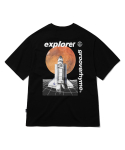 그루브라임(GROOVE RHYME) SPACE SHUTTLE PRINT T-SHIRTS (BLACK) [GTS731I23BK]