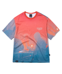 그루브라임(GROOVE RHYME) DISK JOCKEY PRINT T-SHIRTS (ORANGE) [GTS737I23OR]