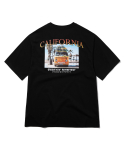 그루브라임(GROOVE RHYME) CALIFORNIA ARTWORK T-SHIRTS (BLACK) [GTS739I23BK]