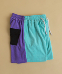 브릭(BRICK) TERRY BLEND SHORTS (Cyan Blue - Deep Lavender - Black)