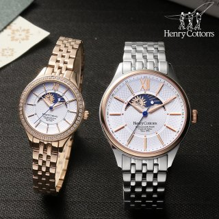 헨리코튼(HENRY COTTON'S) Sun & Moon Couple Watches HC718