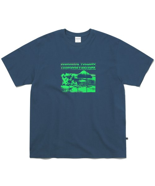 Submarine Volcano Tee Light Navy