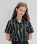 엽페(YUPPE) EMBROIDERY COTTON SHIRT_BLACK