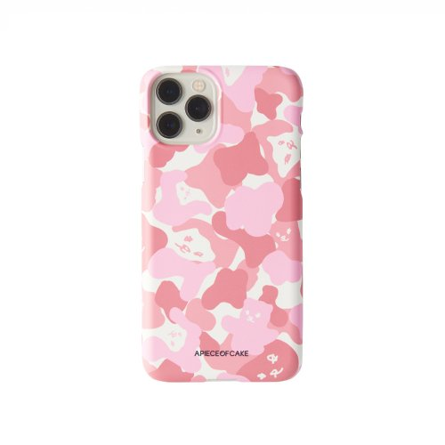 어피스오브케이크(APOC) Bear Camo Phone Case_Pink
