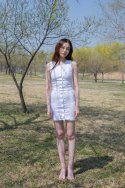 라비드() 2WAY BUTTON SLEEVELESS DRESS WHITE