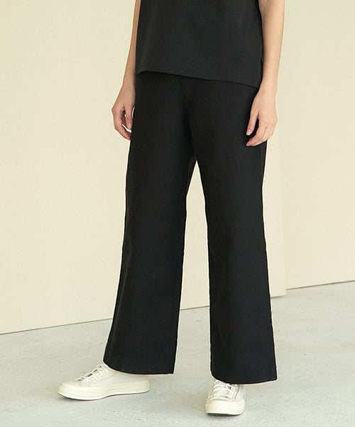 라르고(LARGO) straight high waist pants (black)