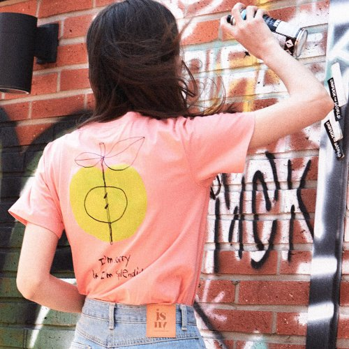 제이에스엔와이(JSNY) Back Apple print T-shirt [Pink] JSTS0B902C2