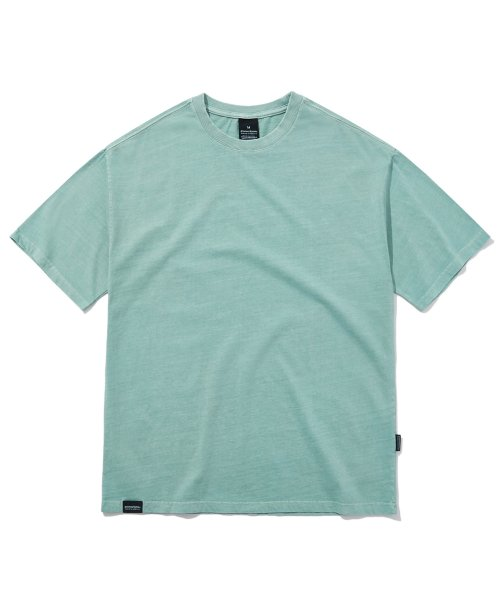 그루브라임(GROOVE RHYME) BASIC PIGMENT OVER FIT T-SHIRTS (MINT) [GTS764I23MI]