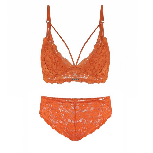 파티아라(FATIARA) CHARLOTTE BRALETTE SET-ORANGE