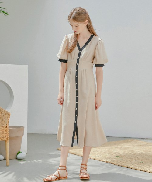 하케쉬(HACKESCH) Dolce Cloud Dress_Latte