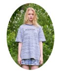 스컬프터(SCULPTOR) [SSS] HEATHER STRIPE TEE [NAVY]