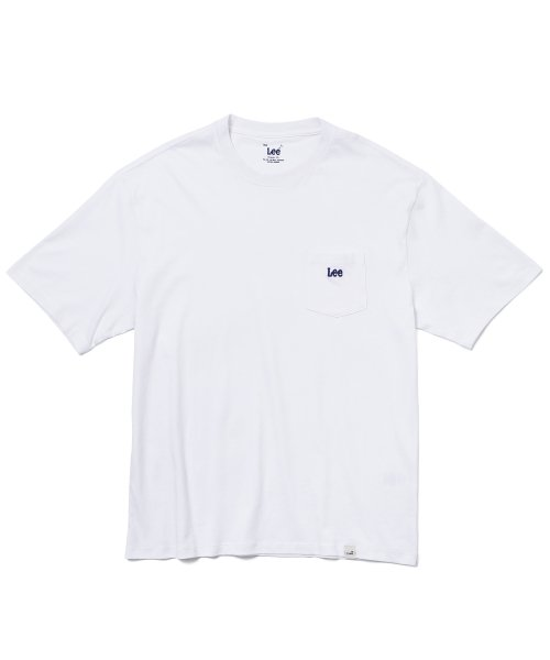 리(LEE) POCKET SMALL LOGO HALF T-SHIRT WHITE