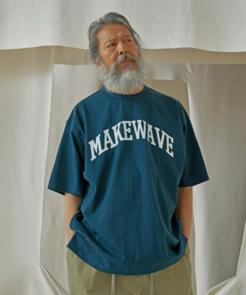 프리즘웍스(FRIZMWORKS) MAKE WAVE LOGO TEE _ DARK GREEN