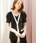 Puff Shoulder Linen Jacket_ Black