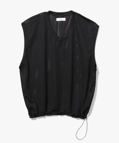 제로(XERO) Mesh String V-Neck Vest [Black]