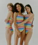 딜라잇풀(DELIGHTPOOL) Gingham Rainbow - Multi color