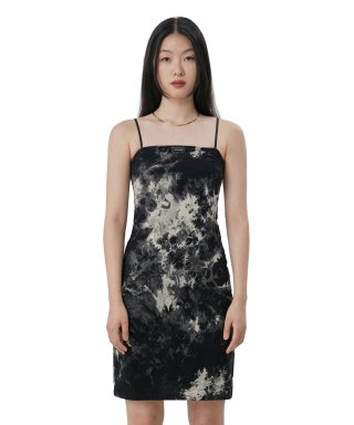 큐리티(CURETTY) C TIE DYE MIDI DRESS_BLACK