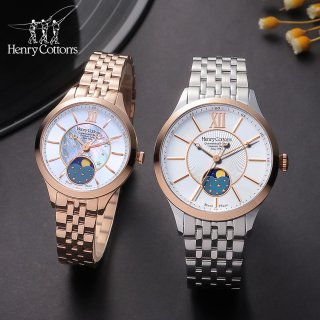 헨리코튼(HENRY COTTON'S) Moonphase Couple  Watches HC722