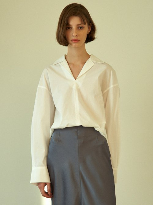 라르고(LARGO) boxy shirt (white)