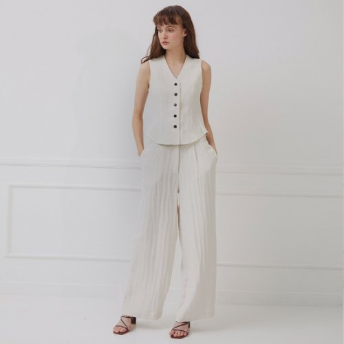 스튜디오 지(STUDIO.G) LINNEN WIDE PANTS_IVORY