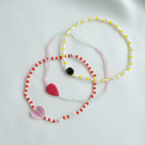 트레쥬(TREAJU) sweet color heart gemstone bracelet