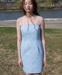 라비드() DENIM STITCH LINED DRESS LIGHT BLUE