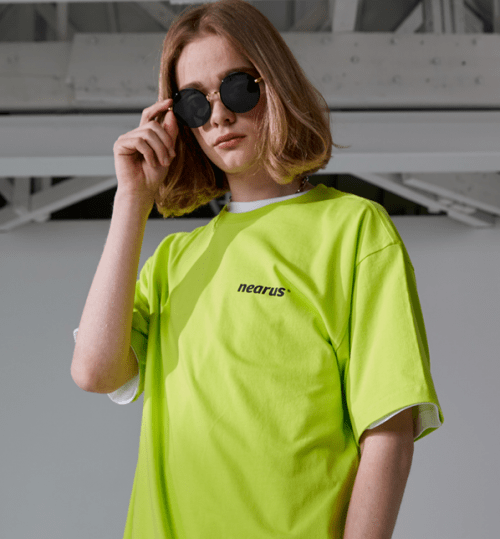 반팔티셔츠BASIC LOGO OVER TEE