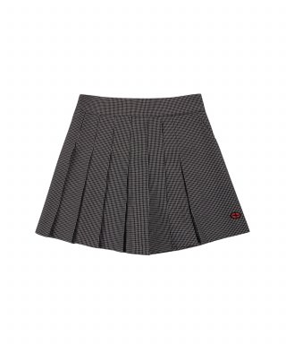 참스(CHARM'S) Windowpane Check Pleats Pants Skirt BK