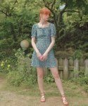 하케쉬(HACKESCH) Momo Ribbon Dress_Green