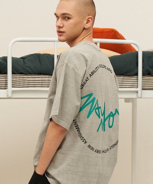 메이노브1722(MAYNOV1722) Baseball Signature Overfit Pigment T-Shirt - 5 Color