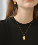 누아보(NUAVO) gold wave necklace