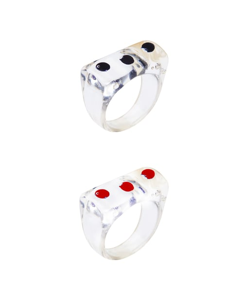 언쁘띠오이슈(UN PETIT OISEAU) Dot arcylic ring (2color)
