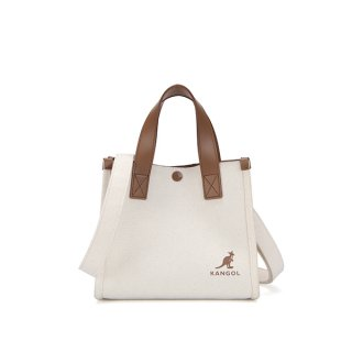 캉골(KANGOL) Duo Canvas Mini Tote bag 3795 IVORY