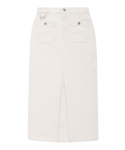 5252 바이 오아이오아이(5252BYOIOI) POCKET POINT SLIT LONG SLIM SKIRT_ivory