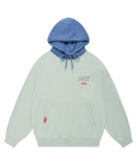 5252 바이 오아이오아이(5252BYOIOI) COLOR BLOCK LABEL HOODIE_light green