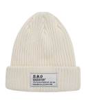 5252 바이 오아이오아이(5252BYOIOI) TAG LABEL BEANIE_cream