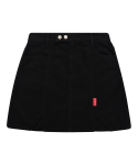 5252 바이 오아이오아이(5252BYOIOI) LABEL POINT SLIT MINI SKIRT_black