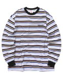 마하그리드(MAHAGRID) SANSKRIT STRIPED LS TEE WHITE(MG2AFMT559A)