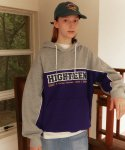 메인부스(MAINBOOTH) Highteen Piping Hood T-shirt(PURPLE)