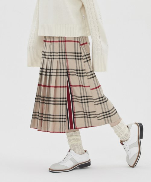 타게토(TARGETTO) [TGT X RMTCRW]LONG PLEATS SKIRT_BROWN