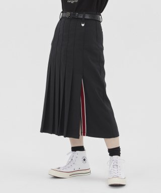 타게토(TARGETTO) [TGT X RMTCRW]LONG PLEATS SKIRT_BLACK