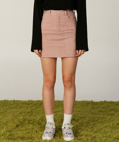 클로티(CLOTTY) JELLY PATCH POCKET SKIRT PINK(CY2AFFPA90A)